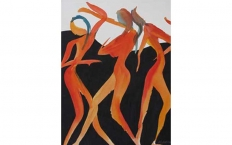 <h5>Tall Dance Trio, SOLD</h5>